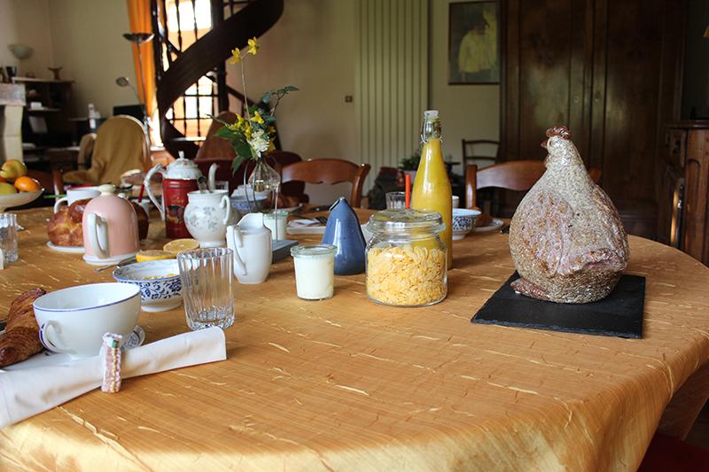 Petit déjeuner à la Pichonnière